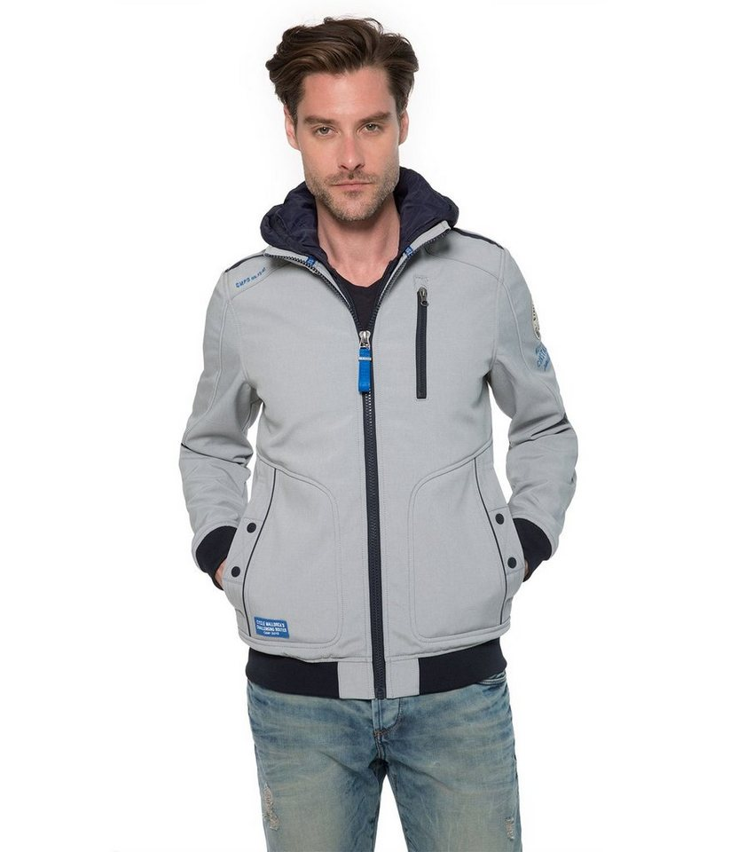 CAMP DAVID Softshelljacke in grau