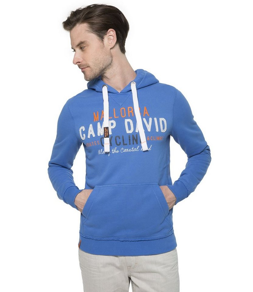 CAMP DAVID Kapuzensweatshirt in blau