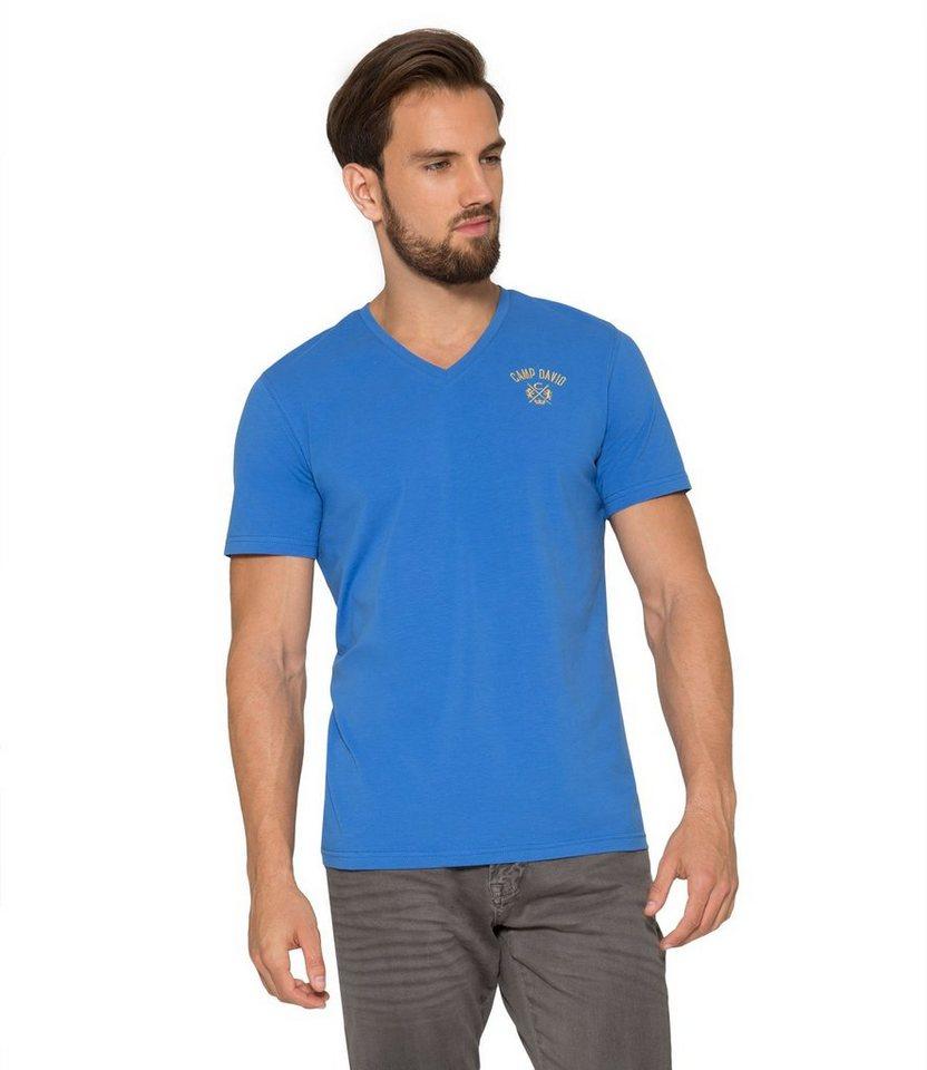 CAMP DAVID T-Shirt in blau