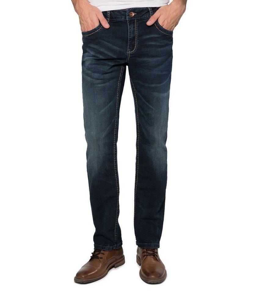 CAMP DAVID 5-Pocket-Jeans in blau