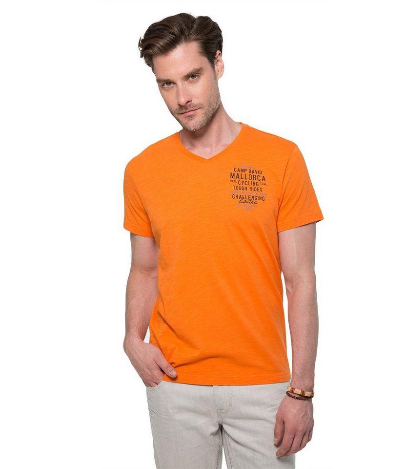 CAMP DAVID T-Shirt in orange