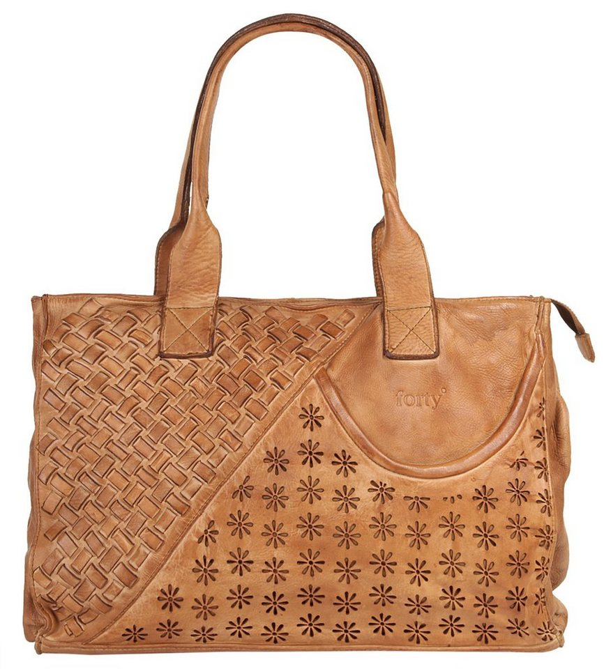 Forty degrees Shopper in cognac