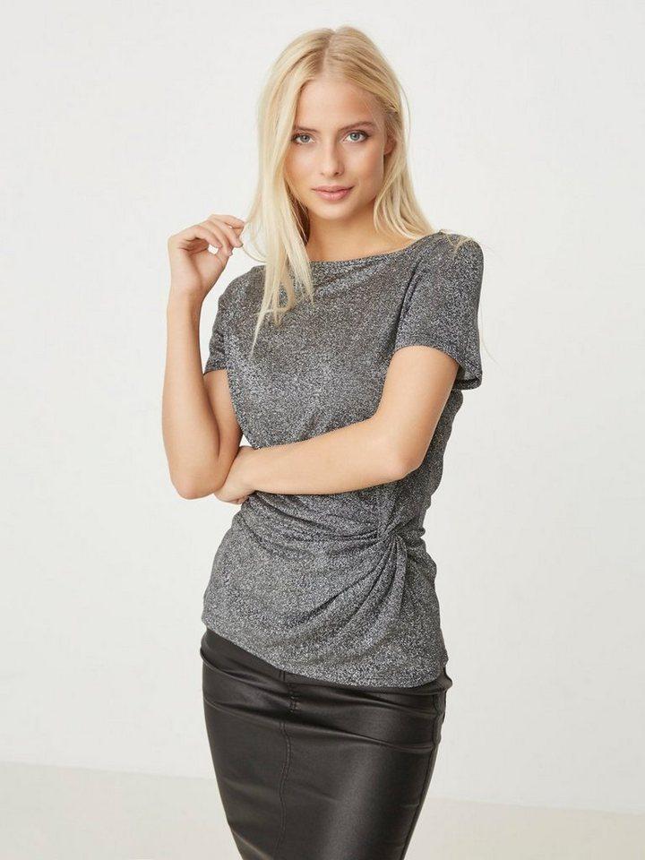 Vero Moda Feminines Oberteil mit kurzen Ärmeln in Black