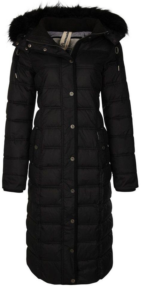DREIMASTER Mantel mit abnehmbarer Kapuze in schwarz