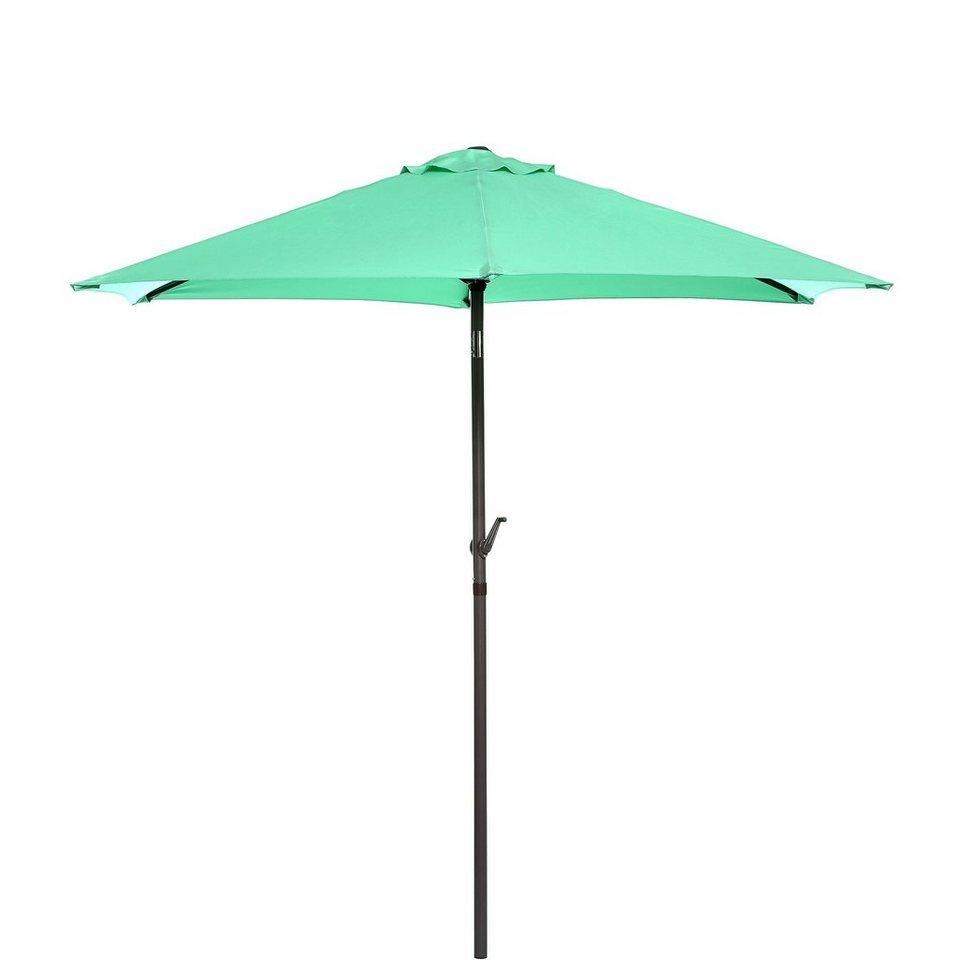 BUTLERS SIESTA »Sonnenschirm mit Kurbel« in mint