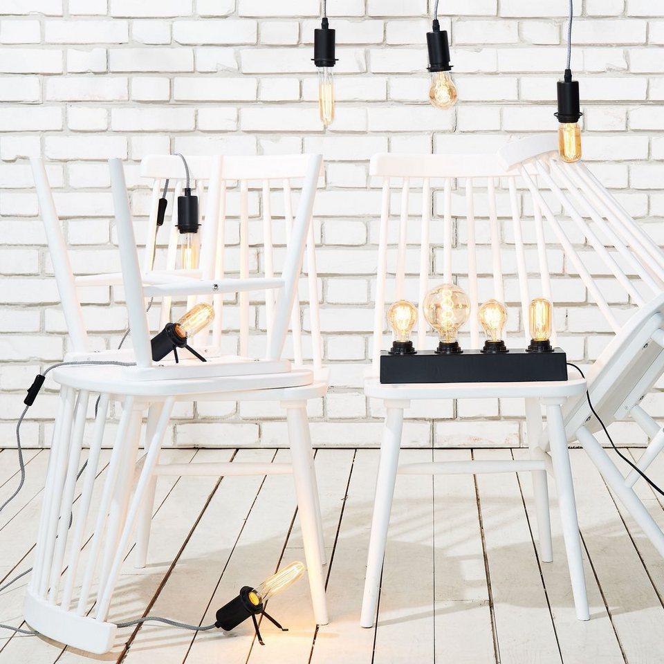 BUTLERS BRIGHT LIGHT »Tischleuchte« in schwarz