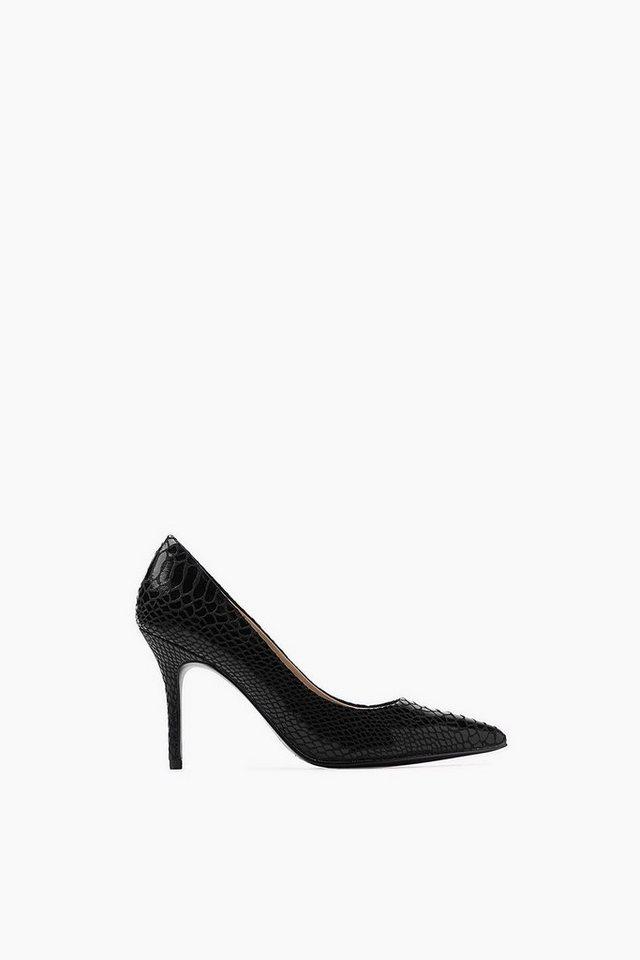 ESPRIT CASUAL Fashion Pumps mit Reptil-Prägung in BLACK