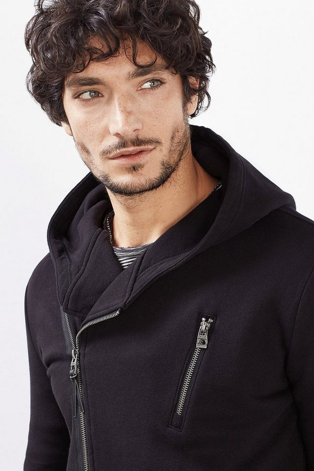 EDC Zip Sweat Blazer, 100% Baumwolle in BLACK