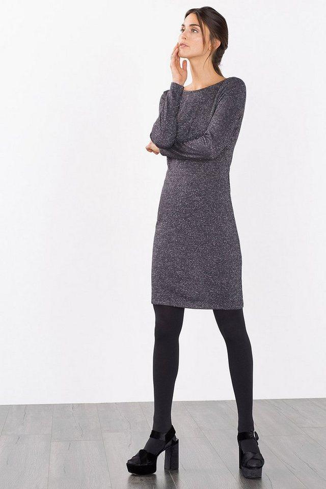 ESPRIT CASUAL Lurex-Kleid mit Rückenausschnitt in GUNMETAL