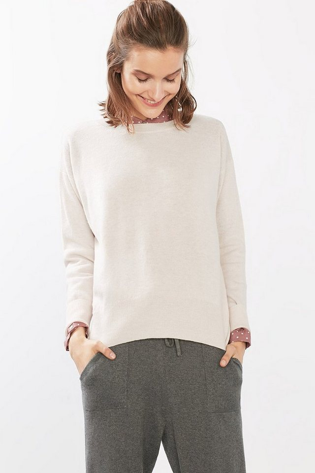 ESPRIT CASUAL Feinstrick-Pullover aus Wolle in PASTEL PINK