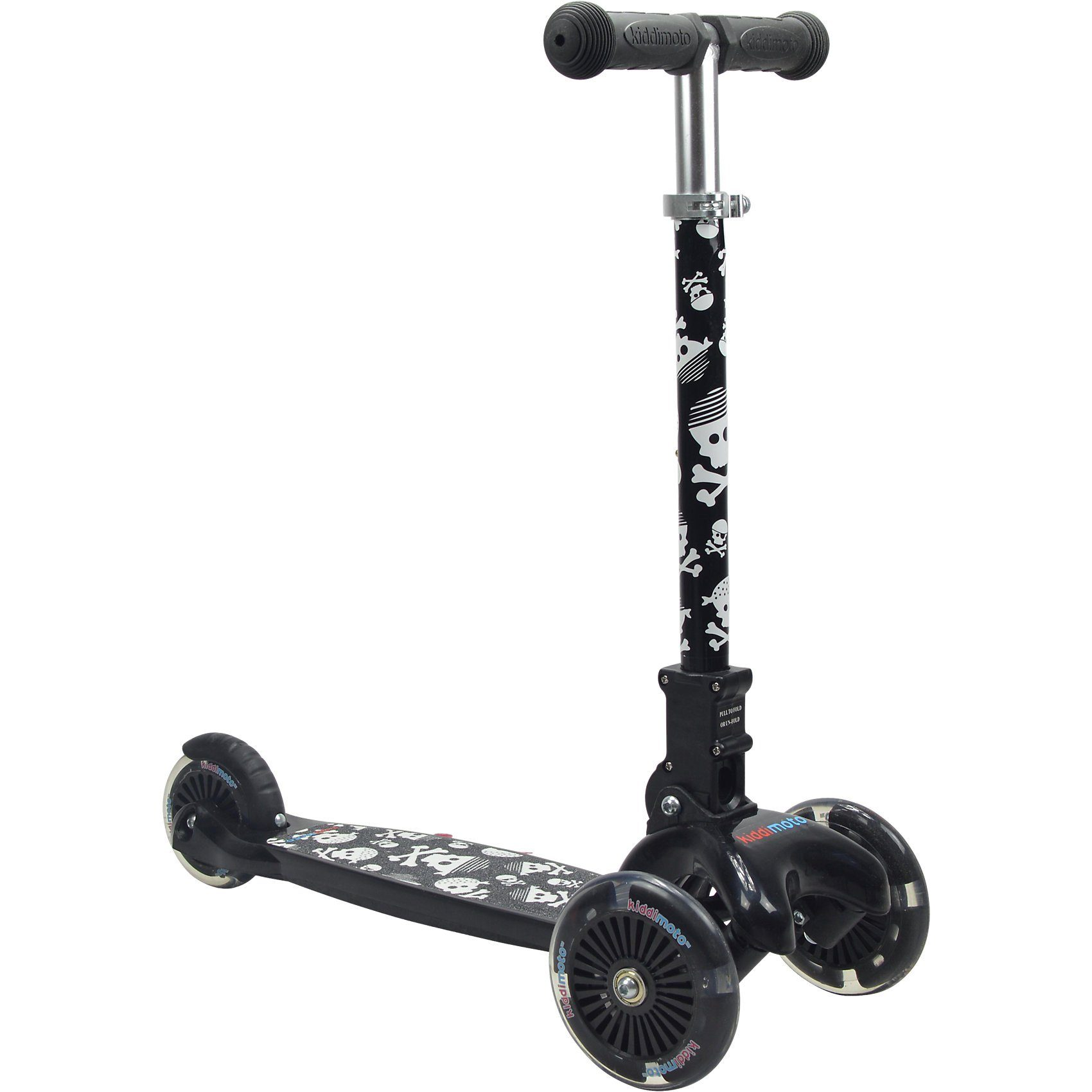 Kiddimoto Scooter mit leuchtenden Rädern, Pirat