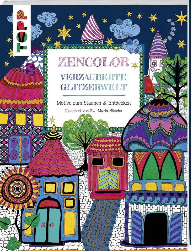 """Topp Buch """"Zencolor -verzauberte Glitzerwelt"""" 80 Seiten"""