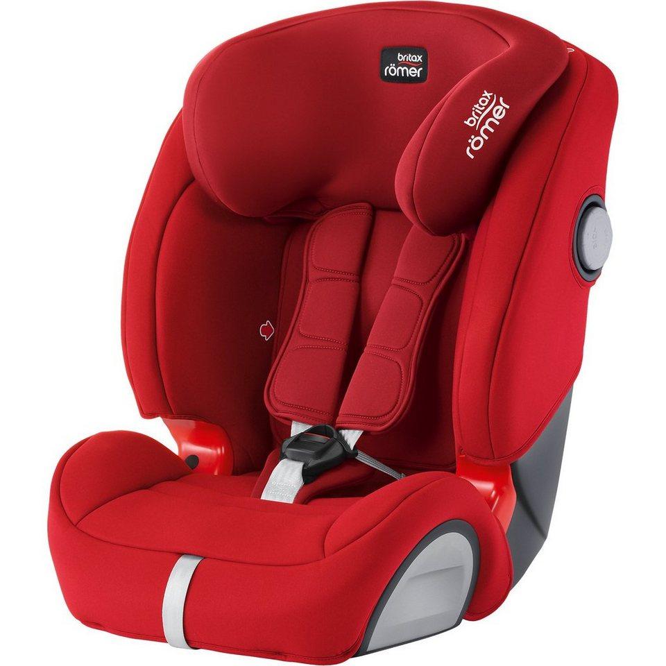 Britax Römer Auto-Kindersitz Evolva 1-2-3 SL SICT, Flame Red, 2017 in rot