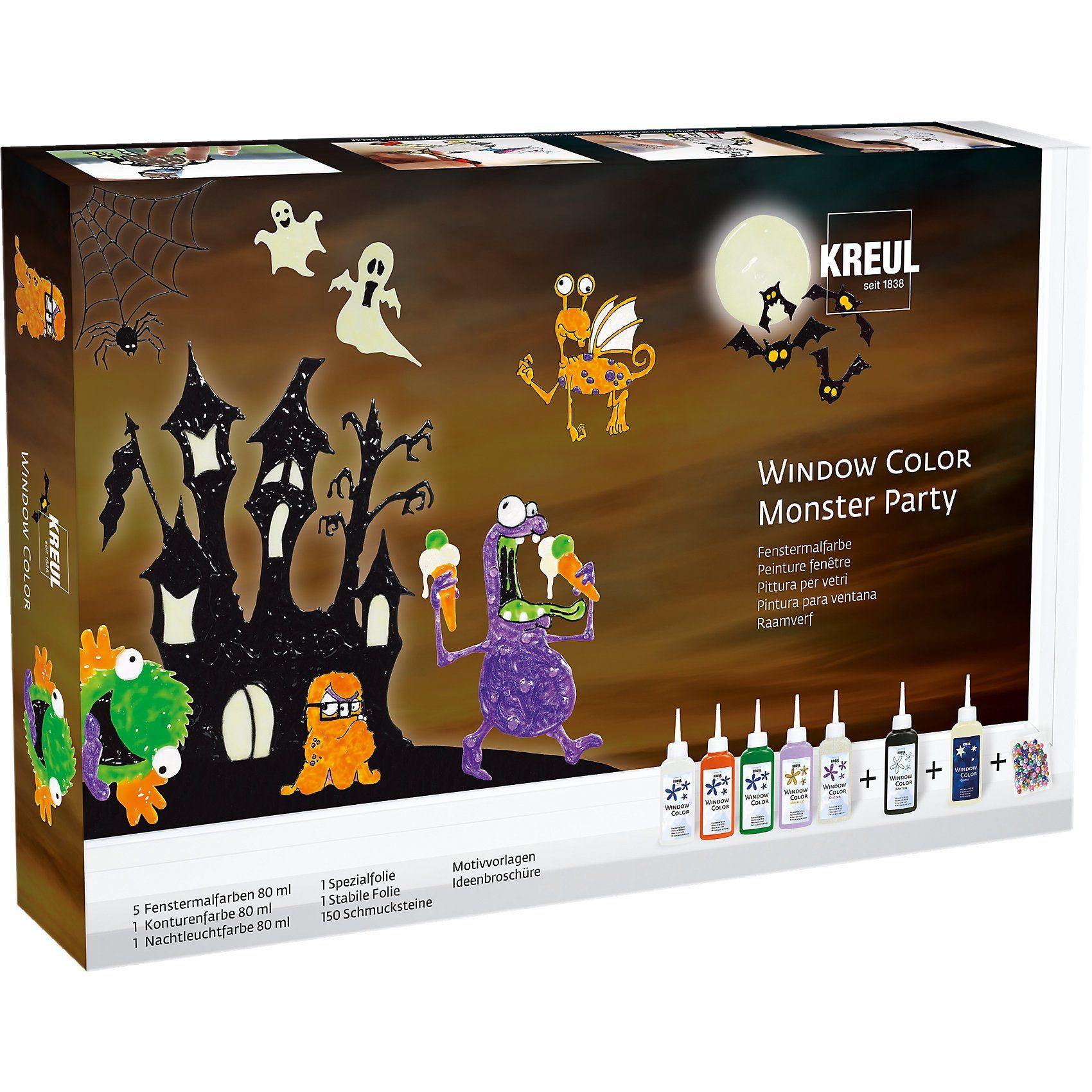 C. KREUL Window Color Monster Party Set