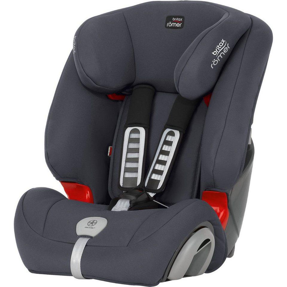 Britax Römer Auto-Kindersitz Evolva 1-2-3 Plus, Storm Grey, 2017 in grau