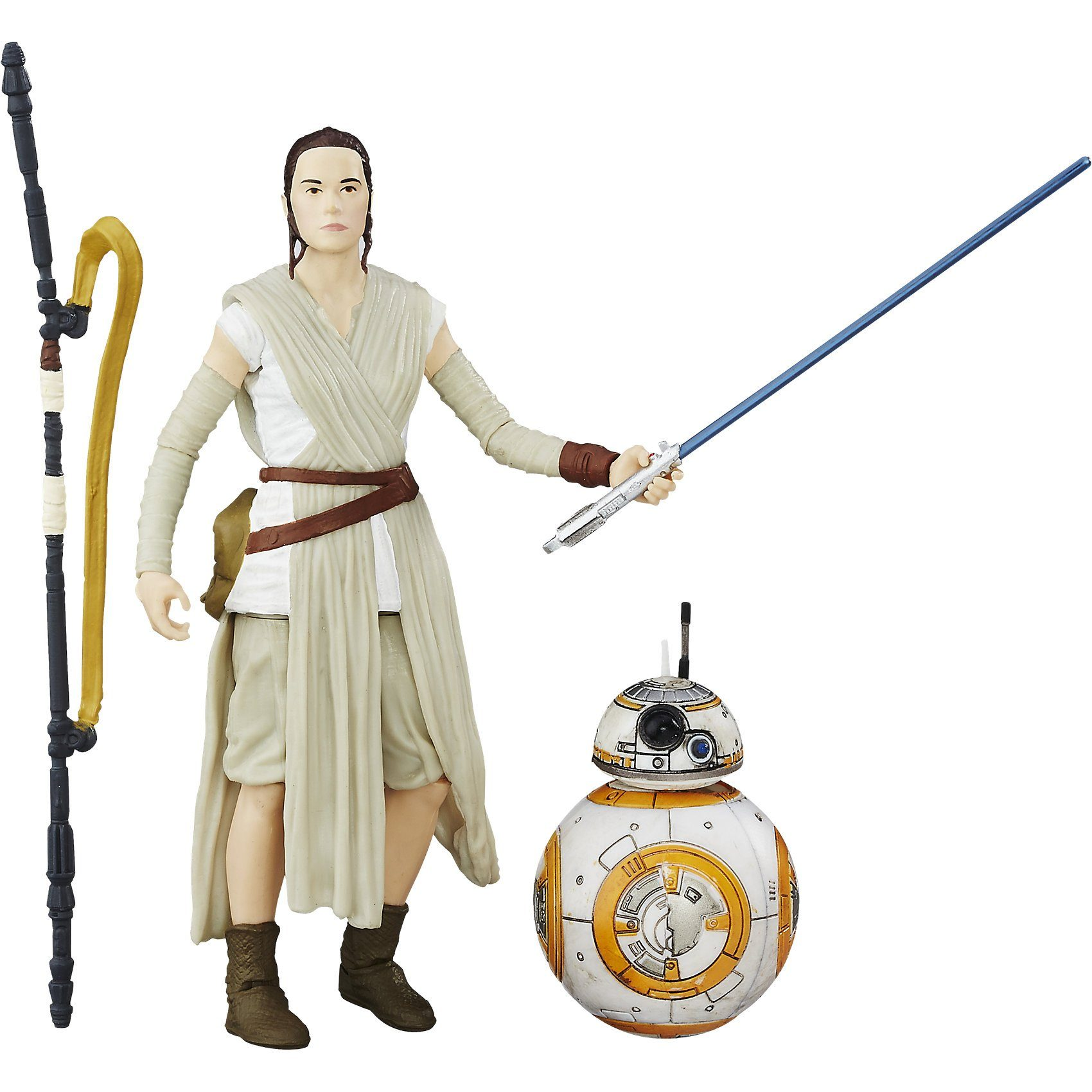 Hasbro Star Wars E7 The Black Series 15 cm Figur: Rey Jakku & BB-8