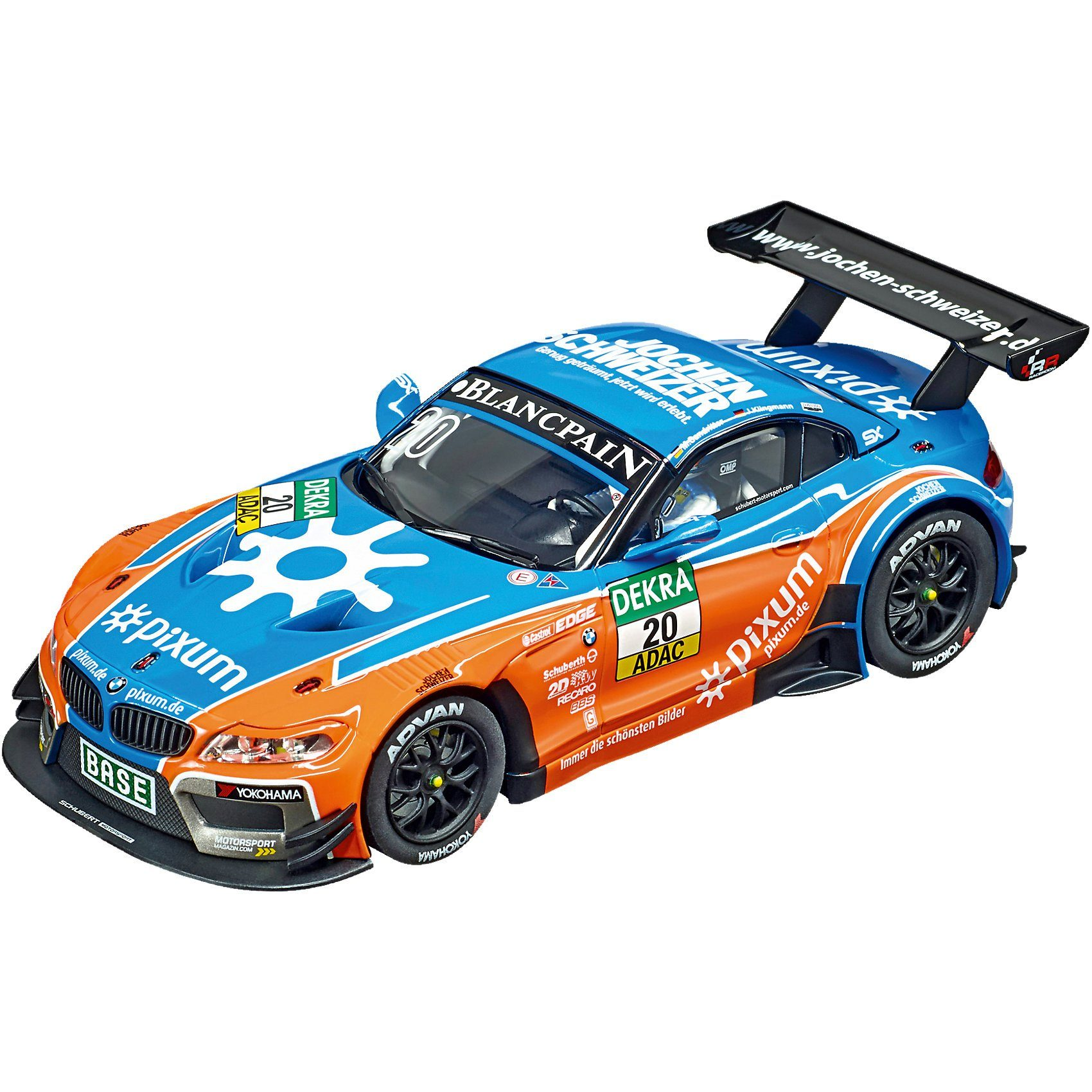 Carrera Digital 132 30744 BMW Z4 GT3 Schubert Motorsport No. 20, Bl