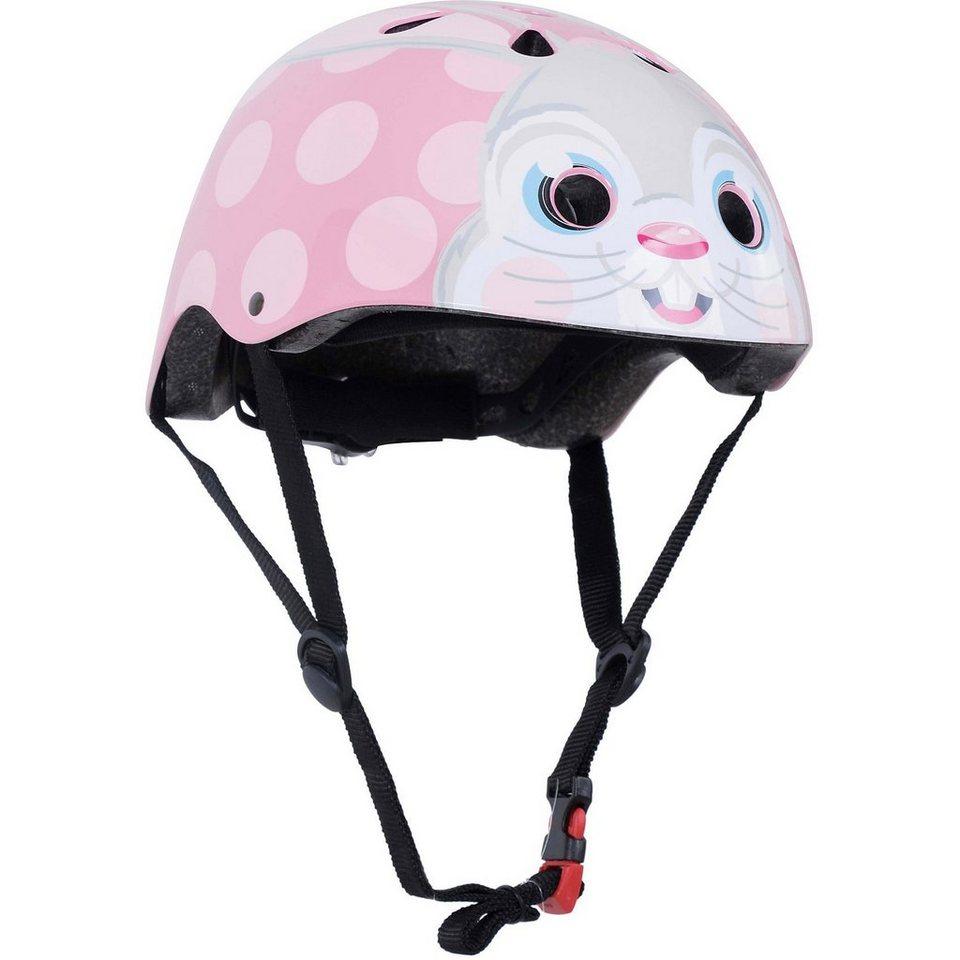 kiddimoto Fahrradhelm Pink Bunny, Gr. M