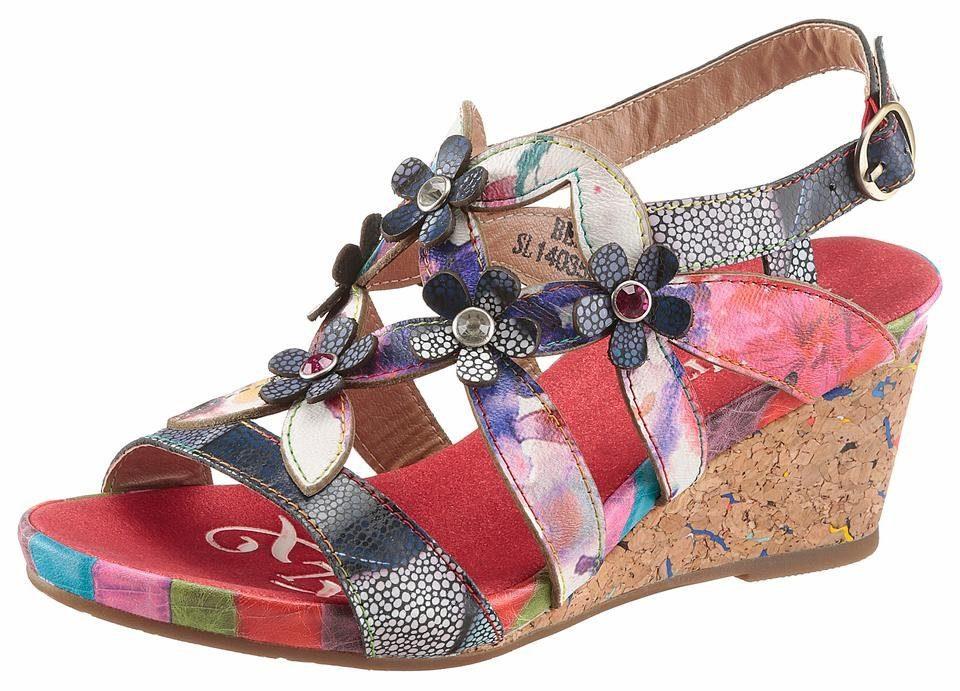 LAURA VITA Sandalette, mit schöner Blüten-Deko  bunt