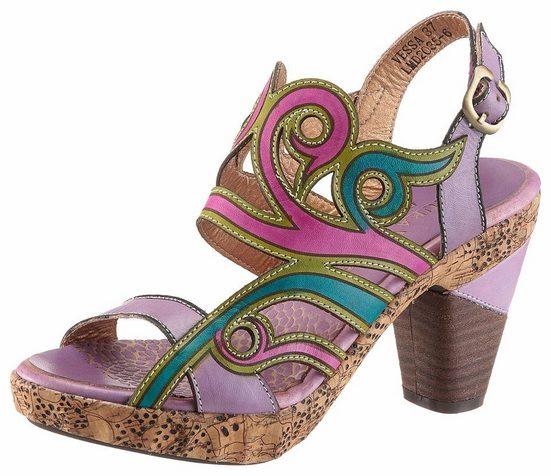 LAURA VITA Sandalette, in farbenfroher Optik