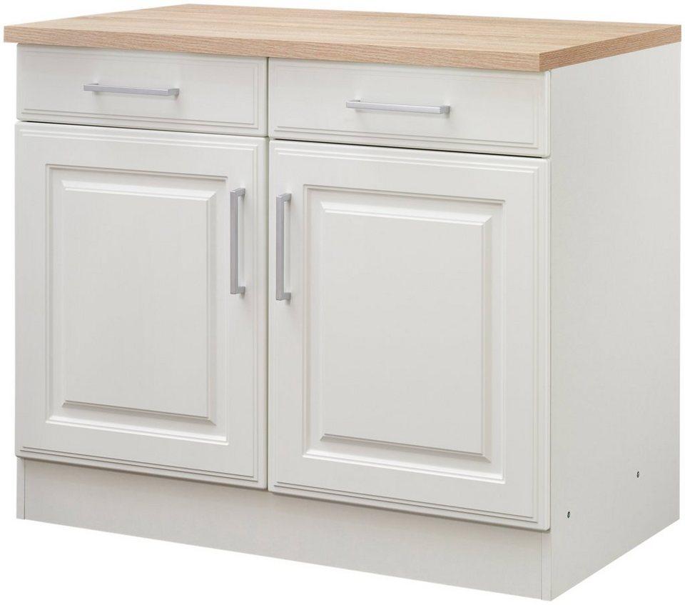 Küchenunterschrank »Stockholm, Breite 100 cm« in weiß