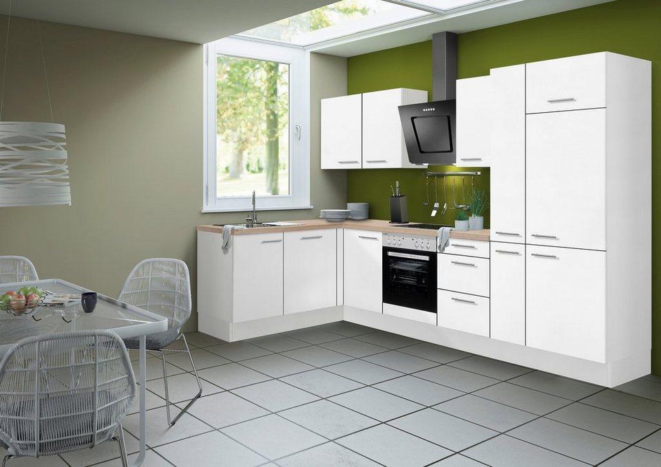 Optifit Küchenzeile ohne E-Geräte »Michel«, Breite 315 x 175 cm in weiß