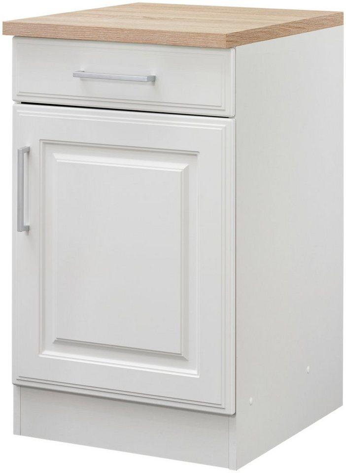 Küchenunterschrank »Stockholm, Breite 50 cm« in weiß