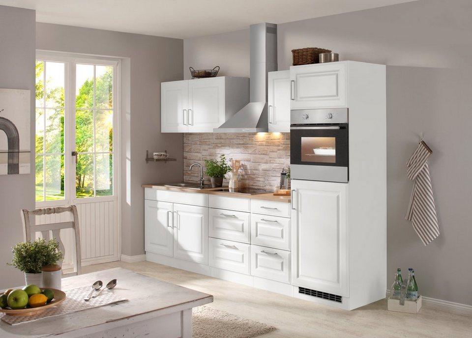 Held Möbel Küchenzeile mit E-Geräten »Stockholm 270 cm« in weiß