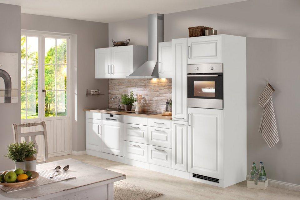 Küchenzeile mit E-Geräten »Stockholm 310 cm« in weiß