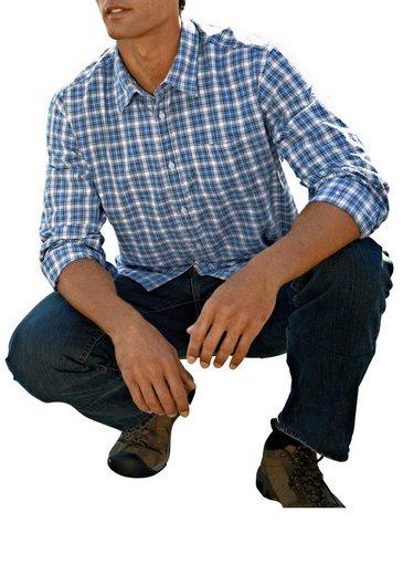 Eddie Bauer Seersuckerhemd mit Langarm