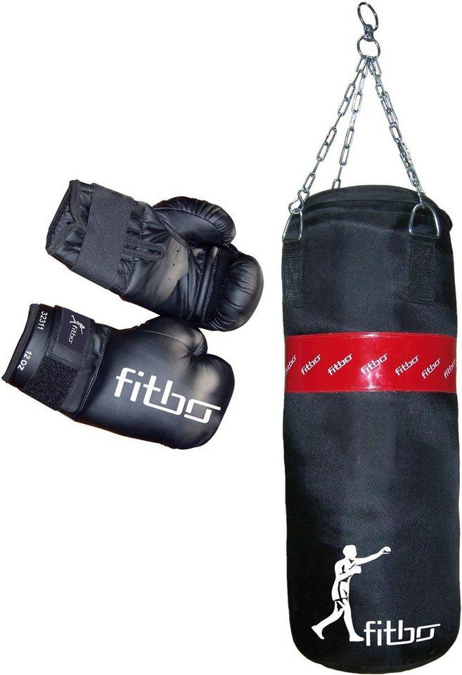 RBSports Set 2tlg. Boxsack und Boxhandschuhe, »Large II« in schwarz