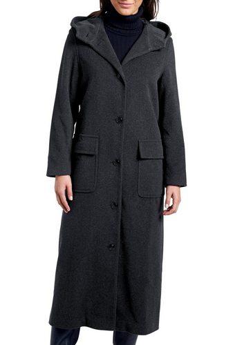 Damen Eddie Bauer Parka Mantel aus Wolle schwarz | 04250056116910