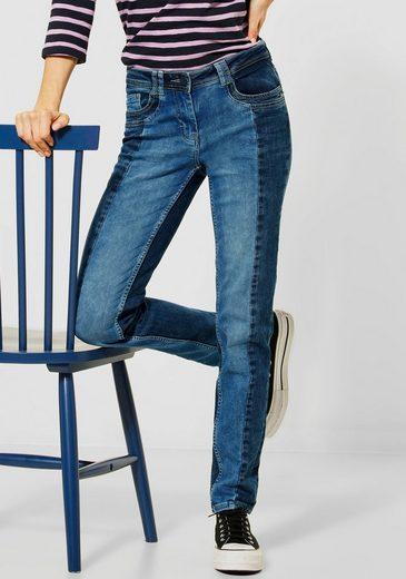 Cecil Slim-fit-Jeans »Charlize« mit Kontrasteinsätzen