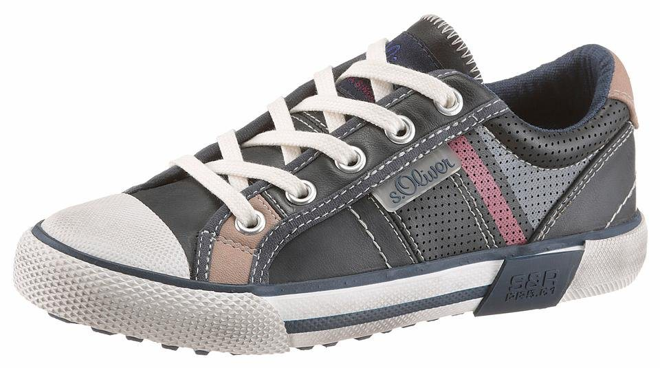 s.Oliver RED LABEL Sneaker mit starkem Used Look in navy-used