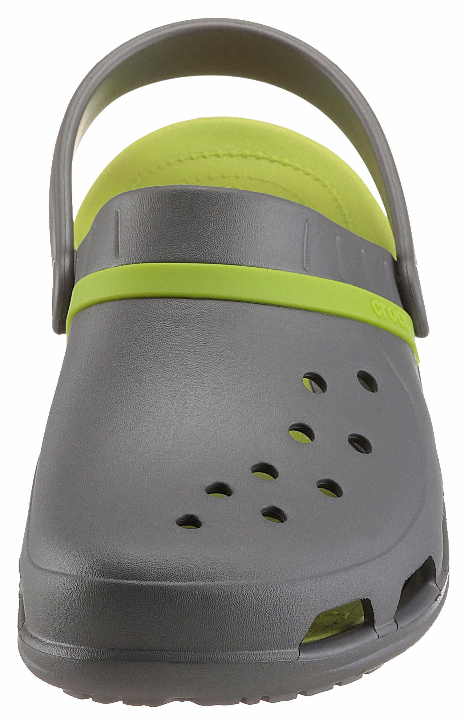 Crocs Modi Sport Clog Clog, mit Massagefußbett  grau-neongrün