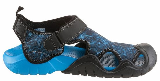 Crocs Sandal With A Convenient Velcro And Toe Cap Protection