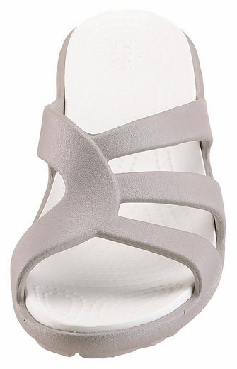 Crocs Sanrah Strappy Wedge Mule, With Ergonomic Footbed
