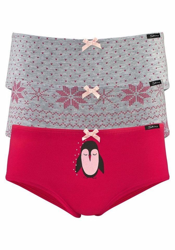 Skiny Panties (3 Stück) »Laque Selection« in ros/gra/prin
