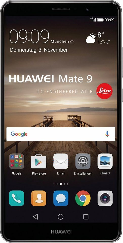 Huawei Mate 9 Smartphone, 14,9 cm (5,9 Zoll) Display, LTE (4G), 20 Megapixel, NFC in grau