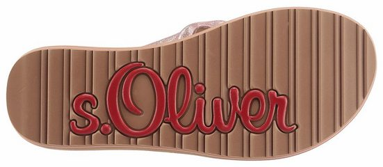 s.Oliver RED LABEL Zehentrenner, mit Glitterdruck