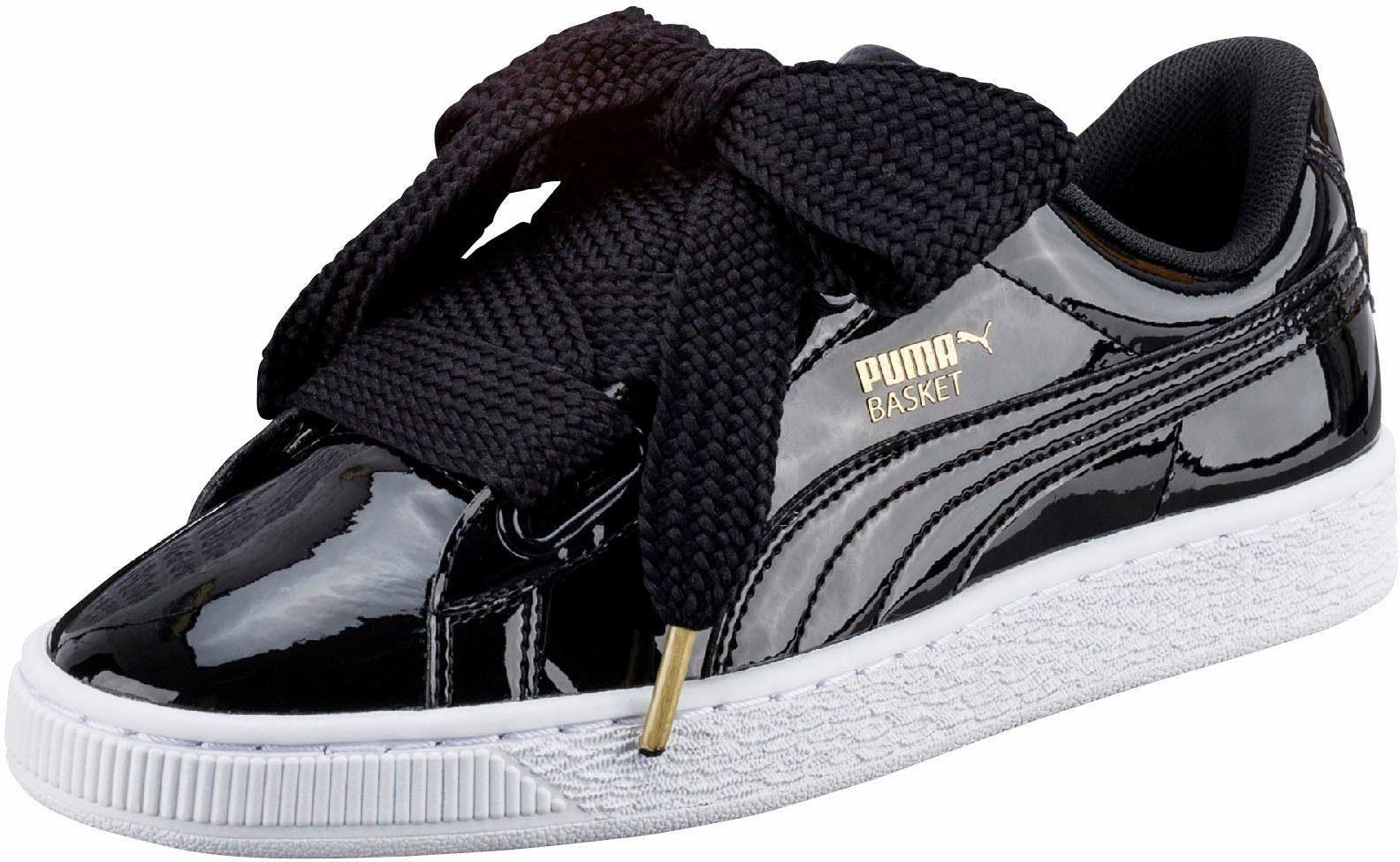 puma damen sneaker basket heart patent wn's