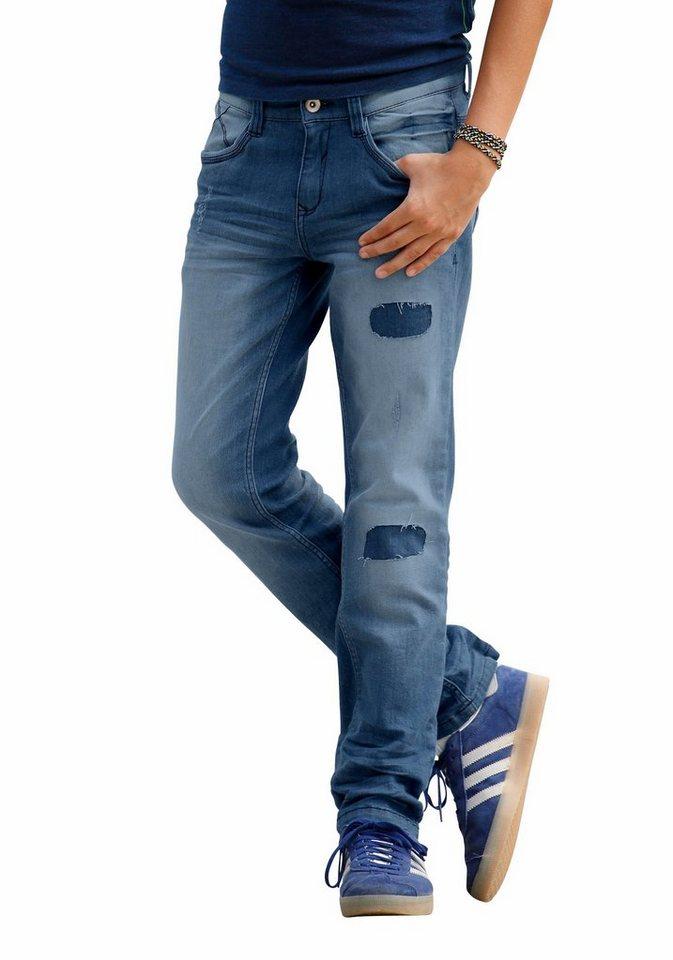 s.Oliver RED LABEL Junior Stretch-Jeans in BIG-Passform für kräftige Jungen in blue-denim