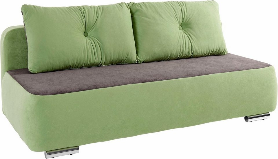 INOSIGN Schlafsofa in grün/grau