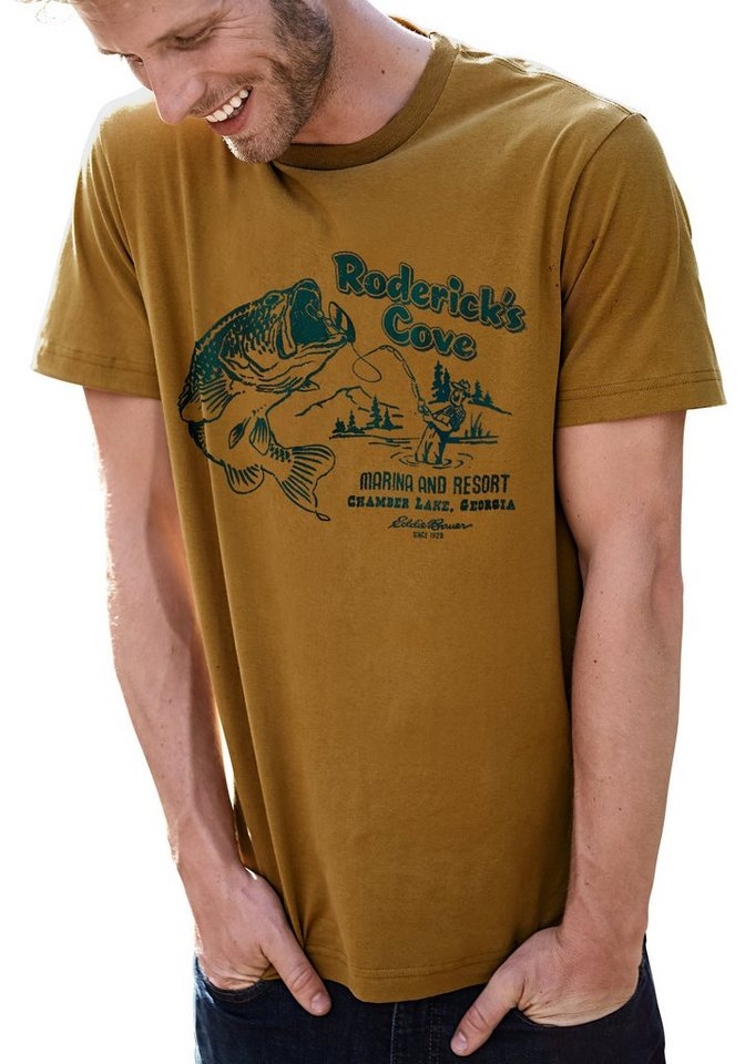 Eddie Bauer T-Shirt Roderick's Cove in Camel