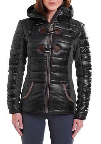 Damen Eddie Bauer Funktionsjacke Materialmix Jacke schwarz | 09009451428389