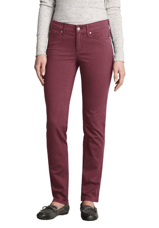 Eddie Bauer Slim Leg Twillhose in Bordeaux