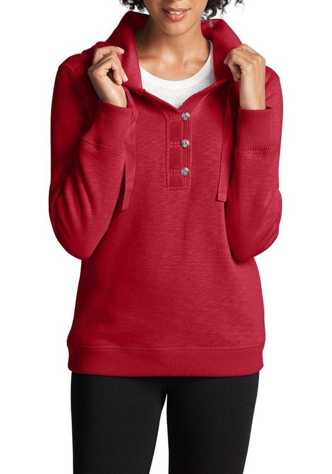 Eddie Bauer Sweatshirt mit Kapuze in Rot