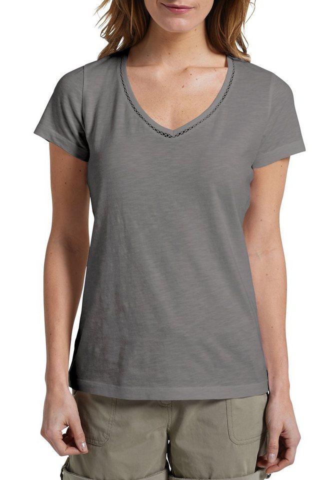 Eddie Bauer T-Shirt mit V-Ausschnitt in Dunkelgrau