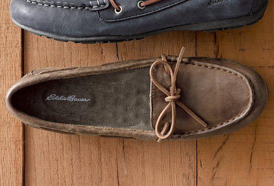 Eddie Bauer Leather Moc Slipper