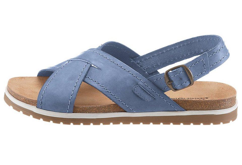 Eddie Bauer Leder Sandale in Blau